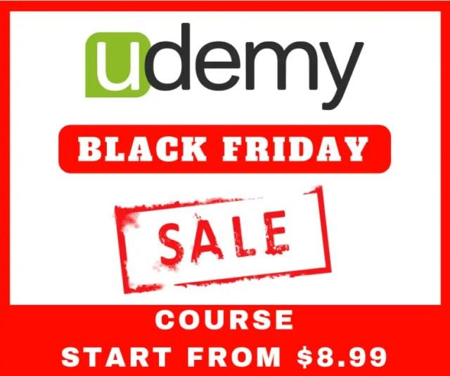 udemy black friday sale