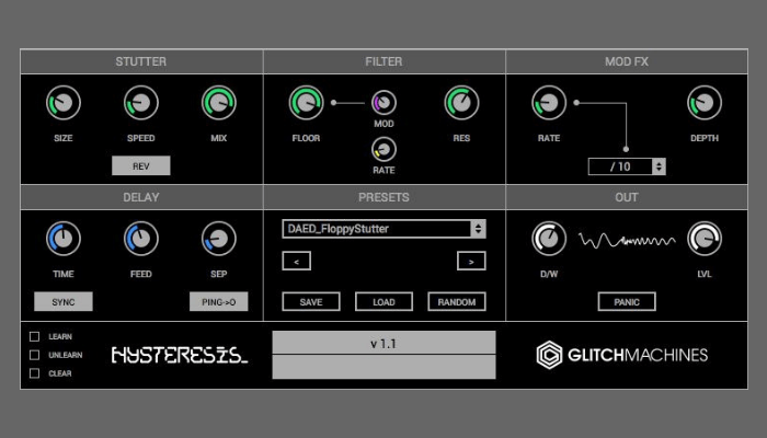 hysteresis glitchmachines delay
