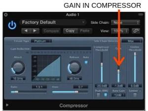 Input Gain in Compressor