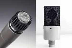 condenser mic dynamic mic