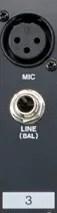 channel strip inputs