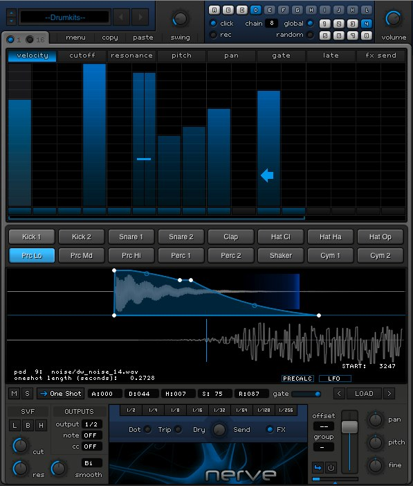 Xfer Nerve Drum VST plugin