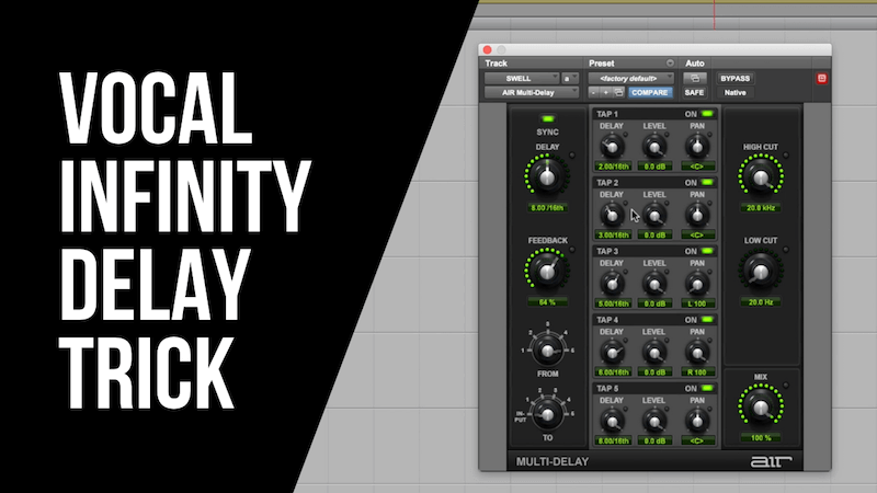 The Vocal Infinity Delay Trick