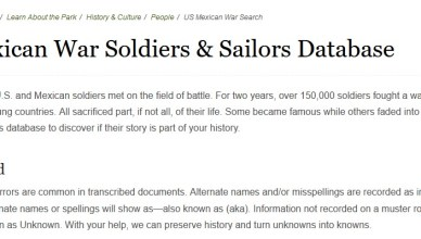 Soldiers & Sailors Database