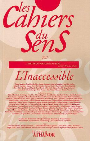 Les cahiers du sens, 2017, n° 27, Edition Le nouvel Athanor, 248 p., 20 €