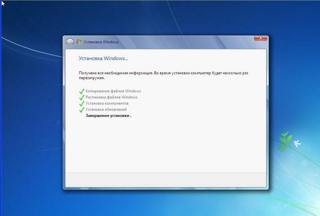 Vervolgde installatie van Windows 7