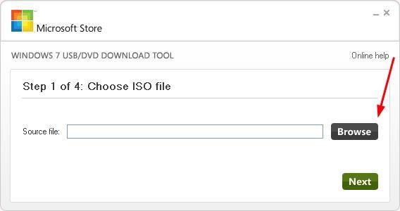 Windows 7 USB / DVD Downloadtool