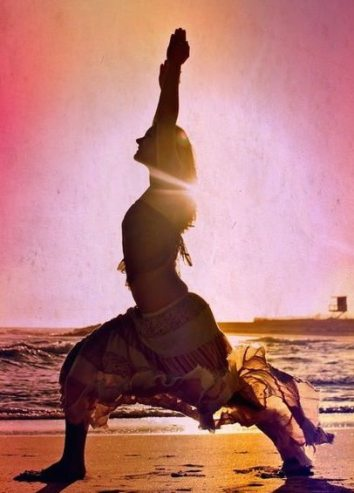 Yoga Pose - Sunset