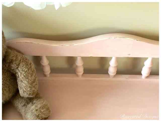 Shabby Chic pink and cream change table. www.recreateddesigns.com