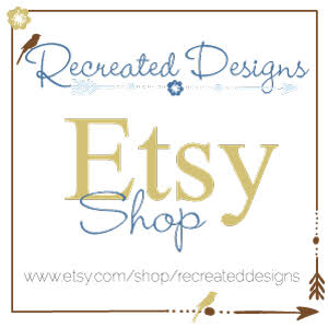 Etsy Shop Badge for Recreated Designs