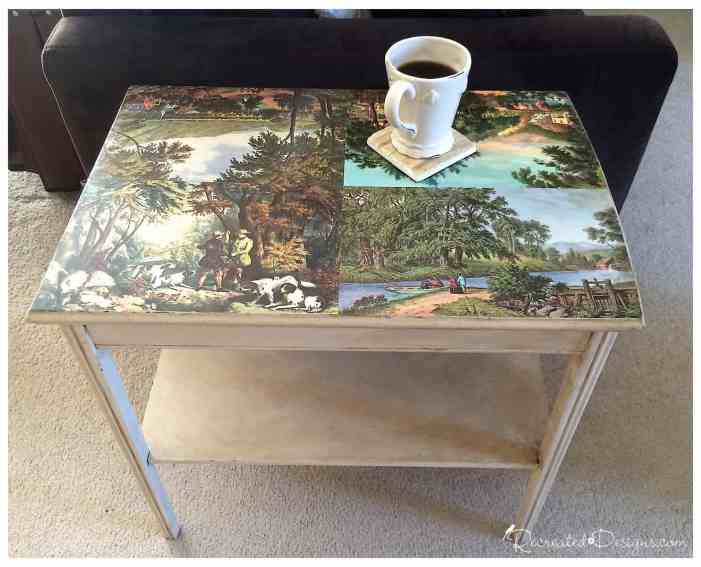 using-antique-calendar-pages-for-table-top