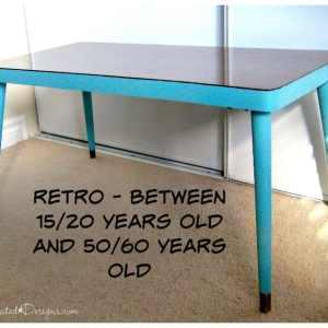 example of retro coffee table