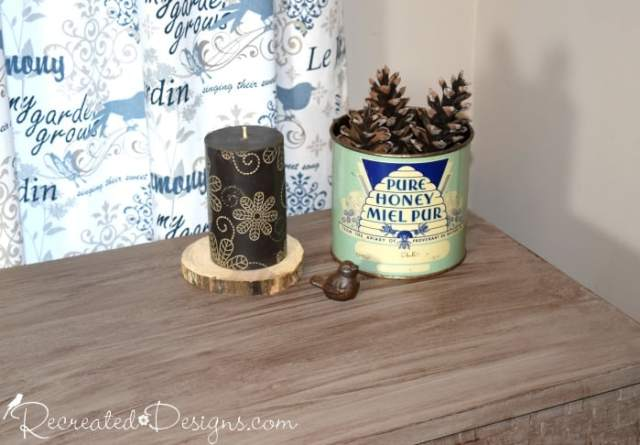 Country Chic Paint Smoky Quartz Glaze over Driftwood paint