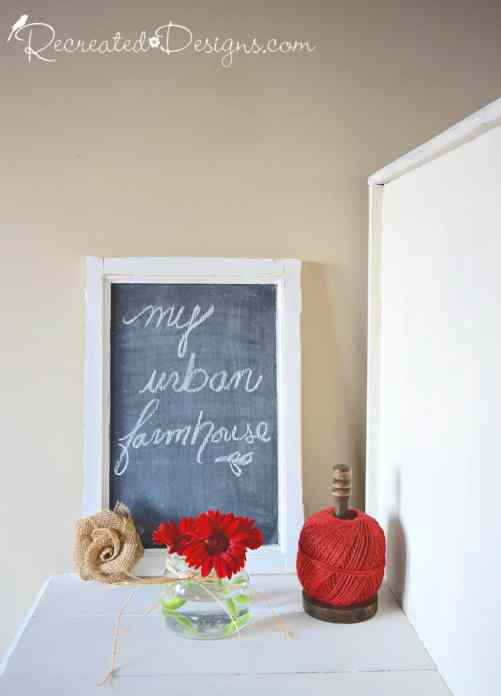 my urban farmhouse chalkboard