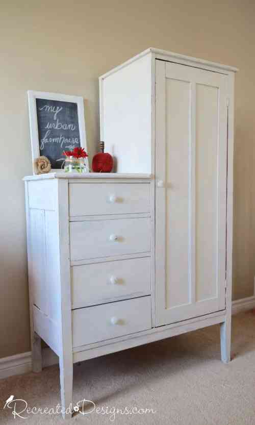 old Chifferobe painted with Old Fashioned Milk Paint