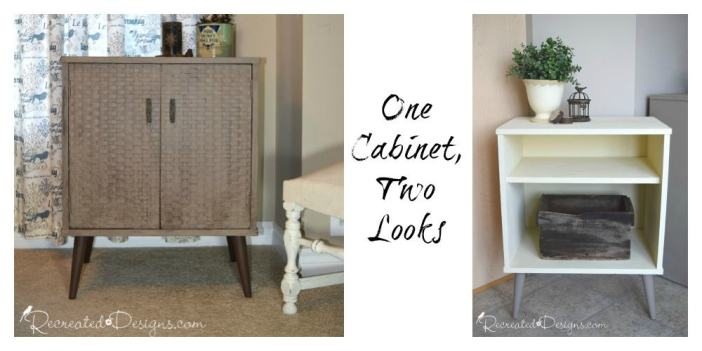 one retro cabinet, two looks