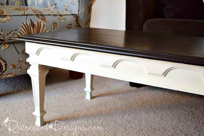details on vintage table top