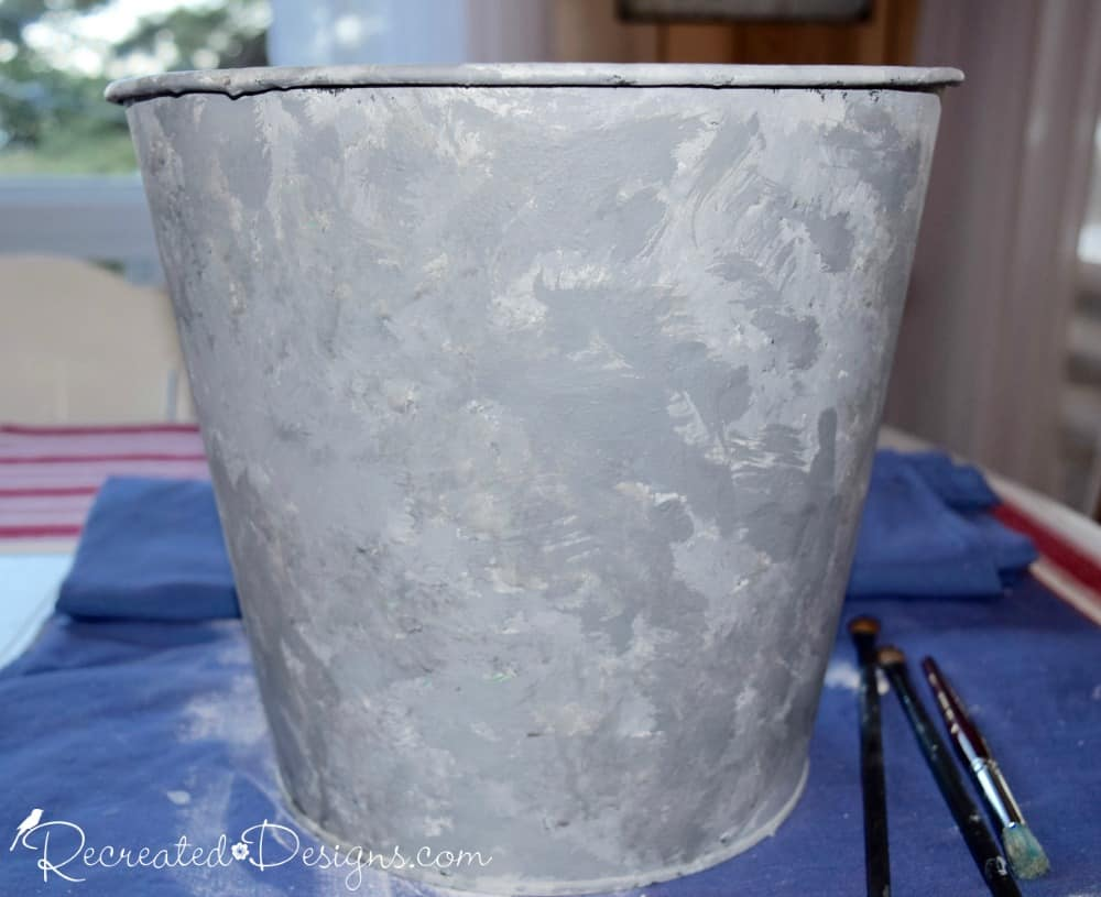 how to make paint look like galvanized metal recreated designs