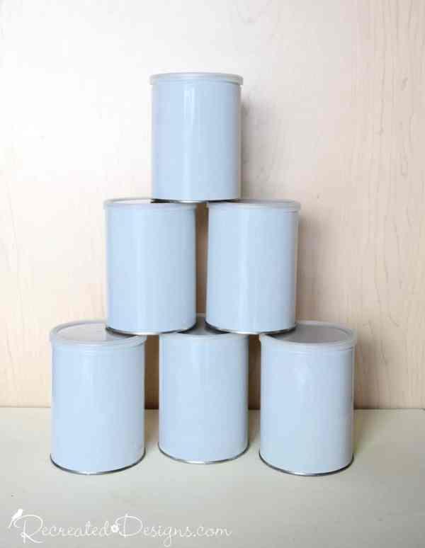 plain white tin cans