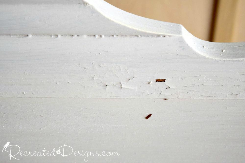 Milk Paint Chipping On A Vintage Dresser