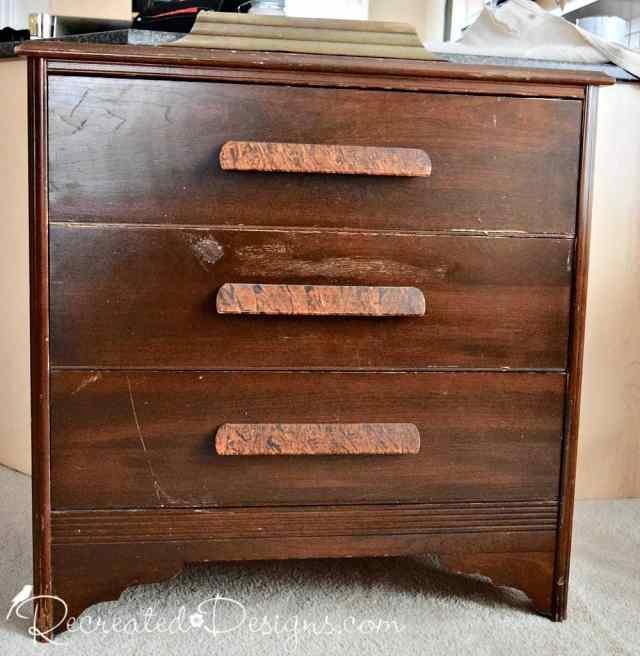 solid wood vintage dresser