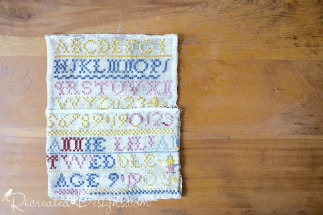 Very old sampler made by a child