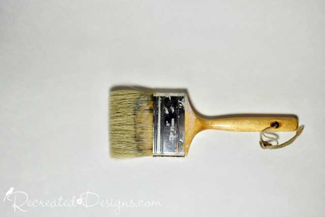 flat natural paint brush