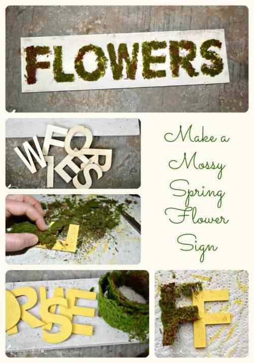 Make your own Mossy Spring Flower Sign