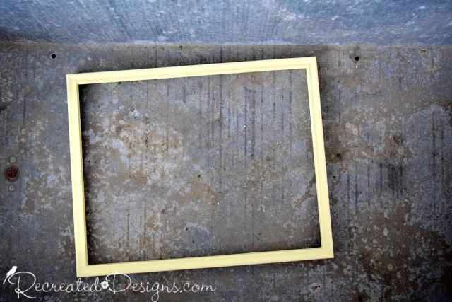 thrift store frame painted with Country Chic Paint in Creme Brulee
