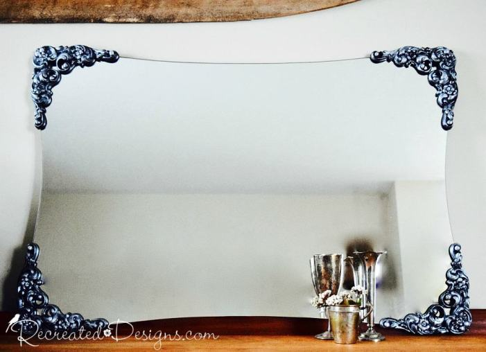 Making the details pop on a vintage mirror with paint