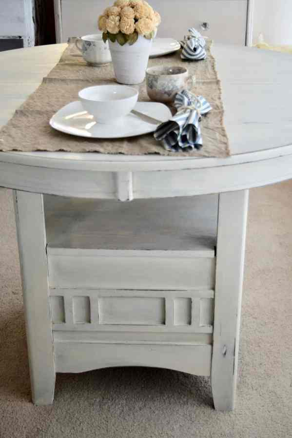 pianted table with old table settings