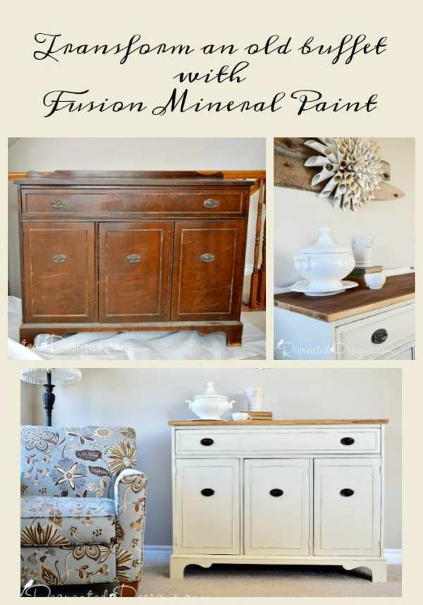 Transoform an old buffet with Fusion Mineral Paint in Plaster