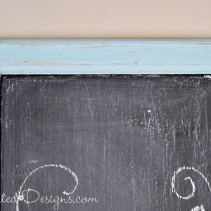 chippy milk paint on a chalkboard