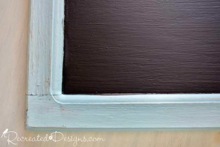 Rustoleum chalkbaord paint on a cabinet door