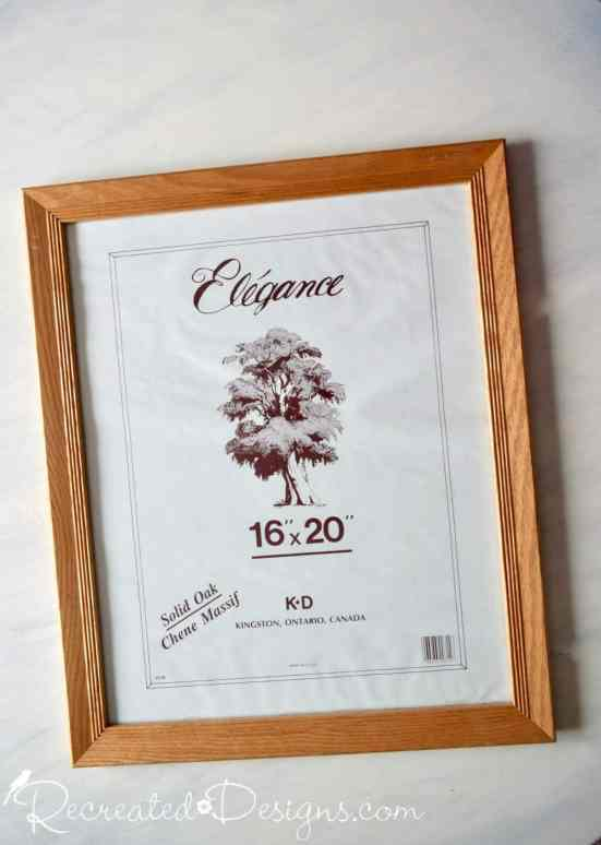 large thrift store oak frame