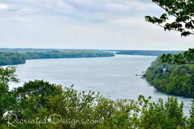 Niagara river escarpment after the falls