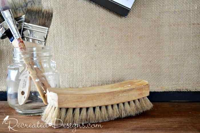 antique natural bristle brush