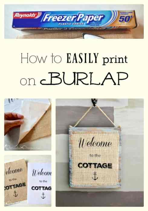 How to Easily Print on Burlap