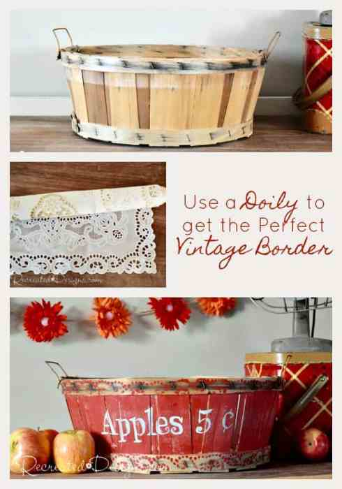 Using a doily to get the perfect vintage border
