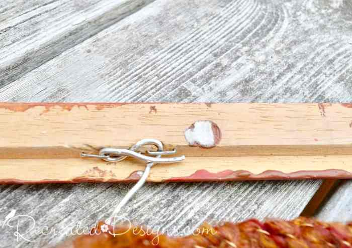 attaching wire to a wood frame