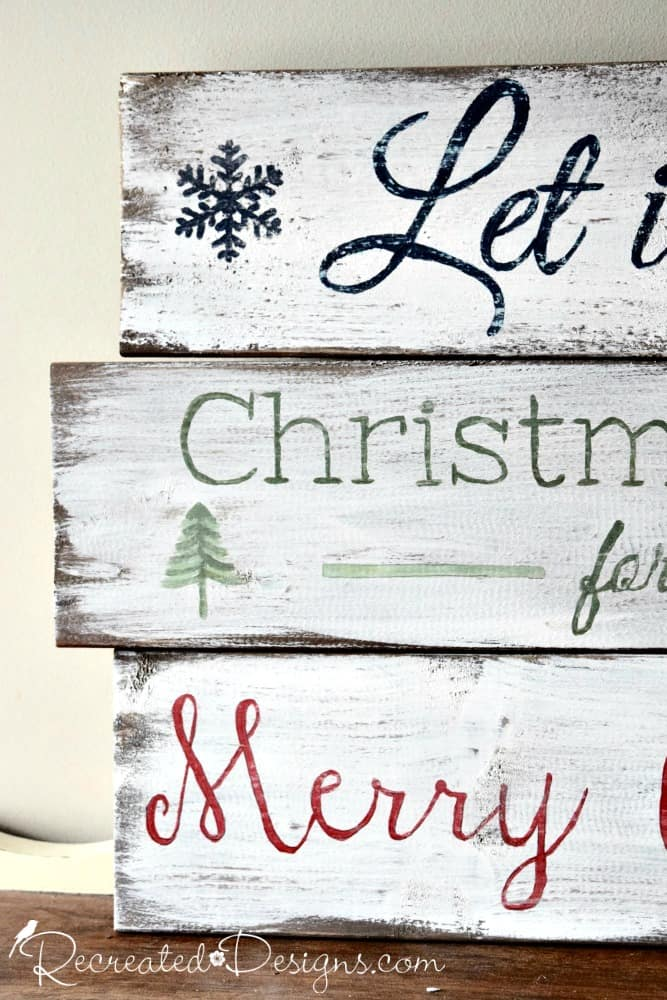 Christmas Signs Part - 21: Wood Made Into Christmas Signs