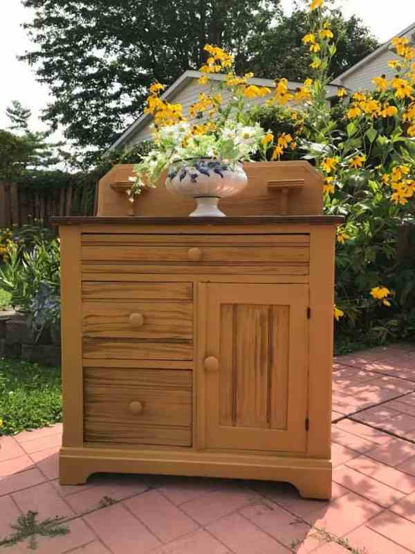 Mustard Coloured wash stand
