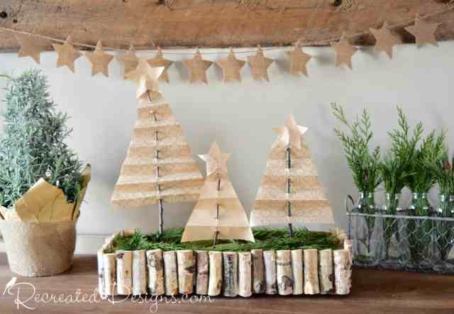 Scandinavian Christmas with neutrals and natural greenery