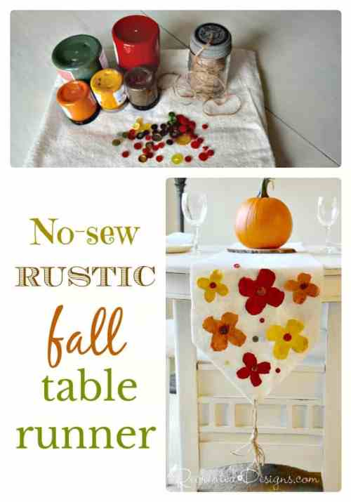 no-sew rustic fall table runner