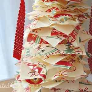 Christmas paper tree