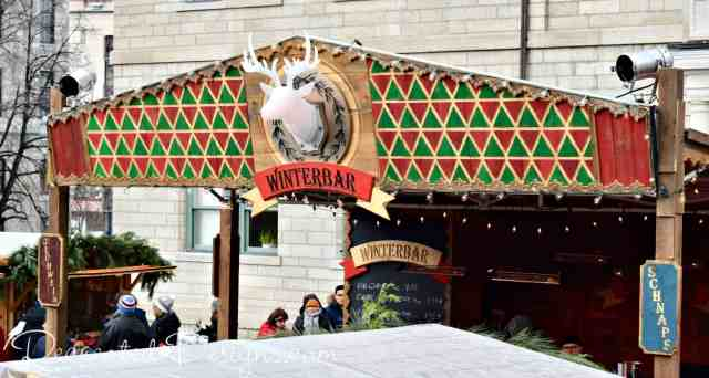Winterbar at German Christmas Market in Quebec City