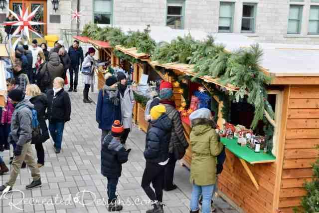 Wooden Kiosks Quebec City Christmas