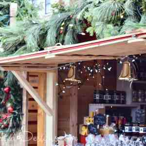 Wooden Kiosks German Market Quebec City