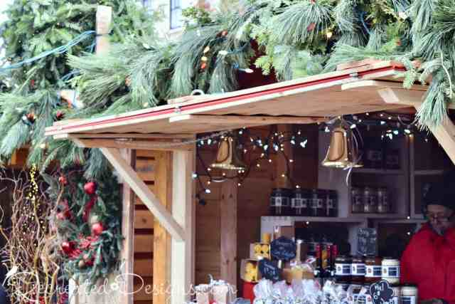 Wooden Kiosks German Market Quebec City
