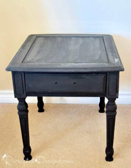 old vintage side table